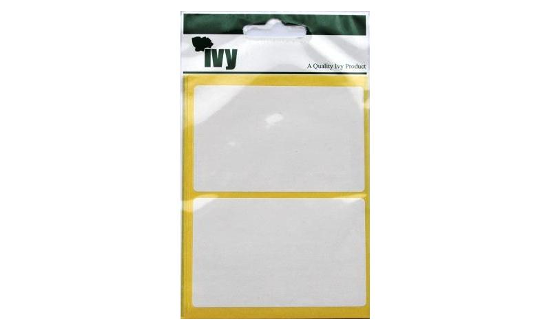 IVY White Rectangular Labels 14 per Pk 50x80mm