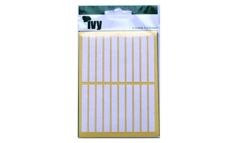 IVY White Rectangular Labels 140 per Pk 6x50mm