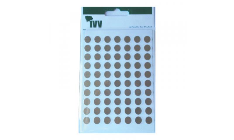 IVY Coloured Circular Labels 490 per Pack 8mm - Gold
