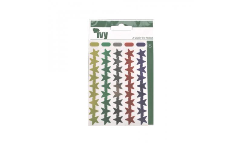 IVY Stars Shiny Metallic Labels 90 per Pack 15mm - Asstd Primary