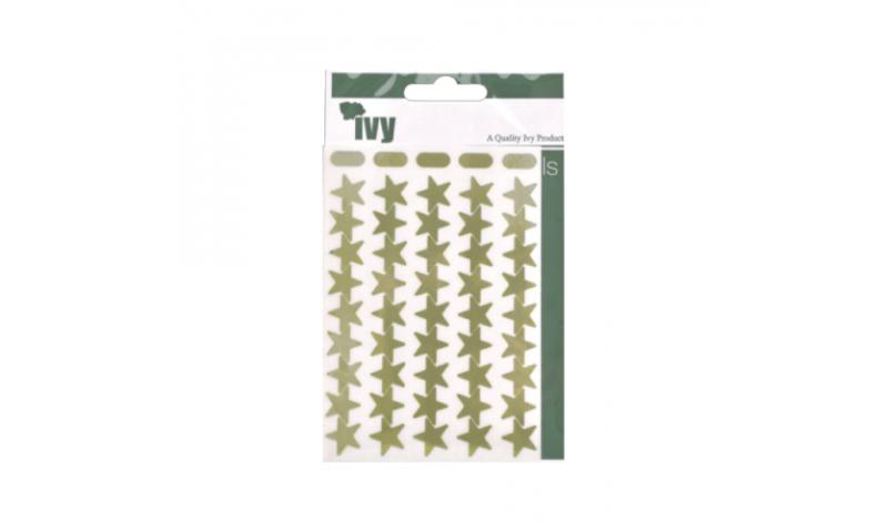 IVY Stars Shiny Metallic Labels 135 per Pack 15mm - Gold