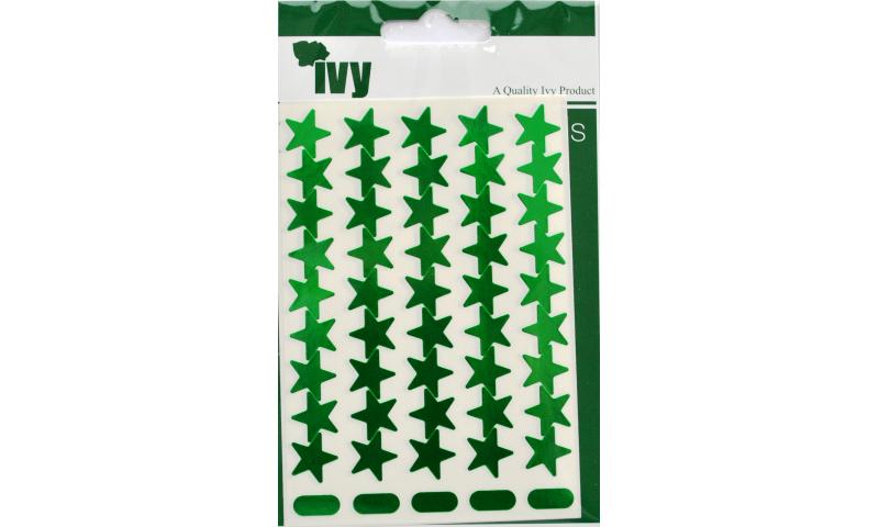 IVY Stars Shiny Metallic Labels 135 per Pack 15mm - Green