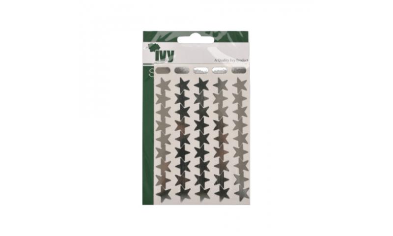 IVY Stars Shiny Metallic Labels 135 per Pack 15mm - Silver