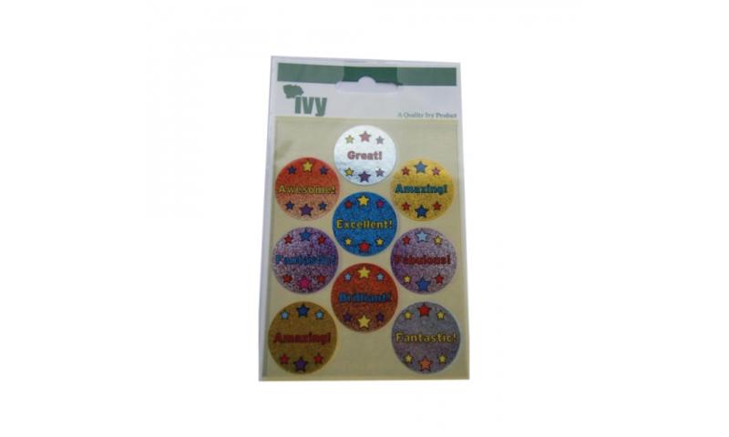 IVY Motivational  Labels 18 per Pack 29mm - Circles