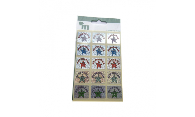 IVY Motivational  Happy Star Labels 30 per Pack 19x25mm