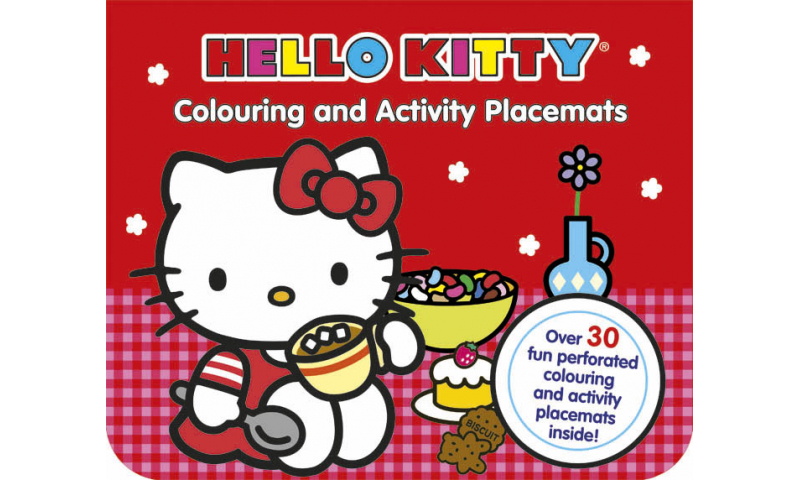 Hello Kitty 30 Colouring  & Activity Placemats  - Zero VAT