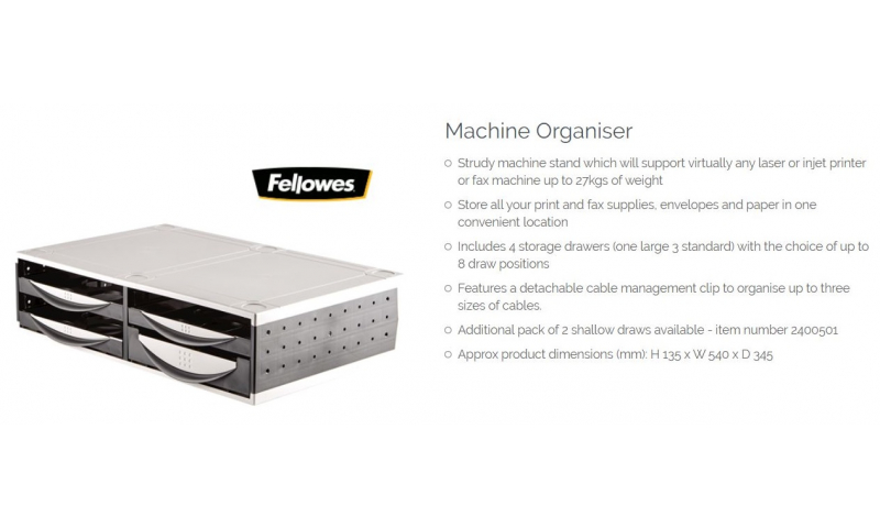 Fellowes Large Desktop Organiser With 4 Drawers Stackable