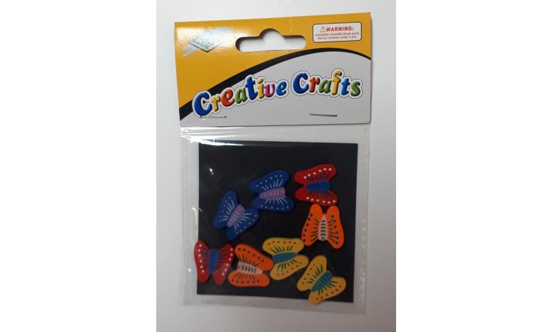 Craft with Fun Wooden Butterflies, Asstd 8pk