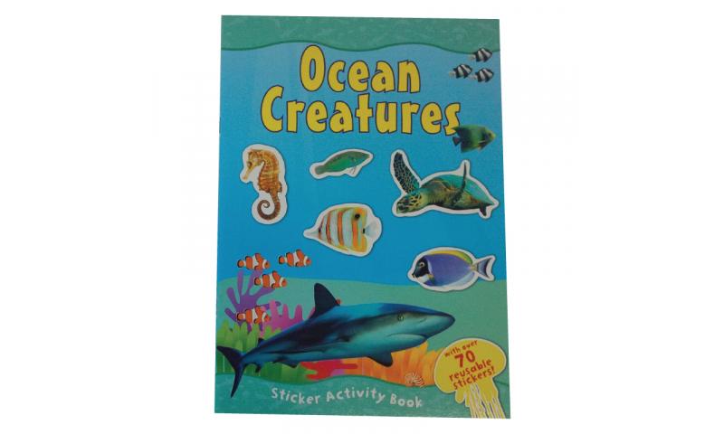 Childrens Books A4 Ocean & Sealife Sticker Book