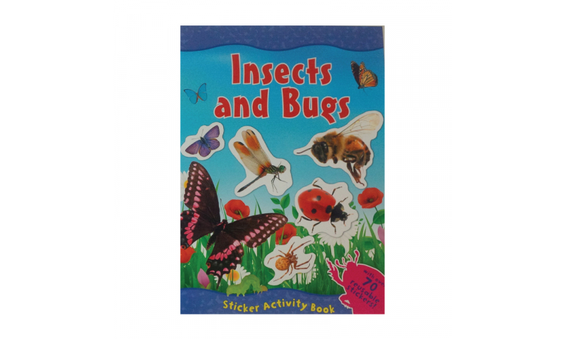 Childrens Books A4 Insect Sticker Book