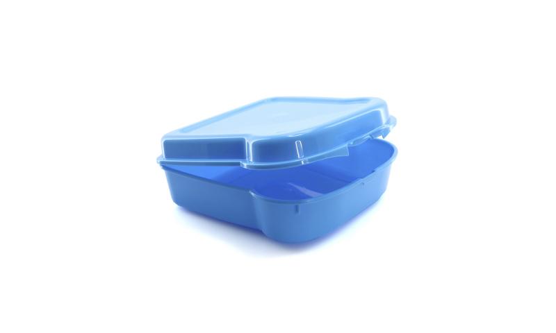 Plastic Sandwich Lunch Box 450ml, 4 Asstd, 13 x 5 x 13.5cm