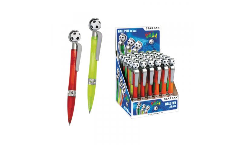 Starpak Retractable Soccer Ball Pen Asstd