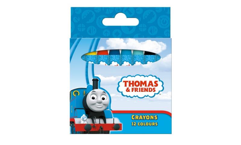 Thomas the Tank 12 Standard Colours Wax Crayons