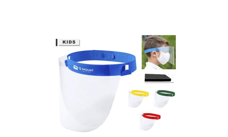 Kids Size Adjustable Face Shield, Asstd Colours