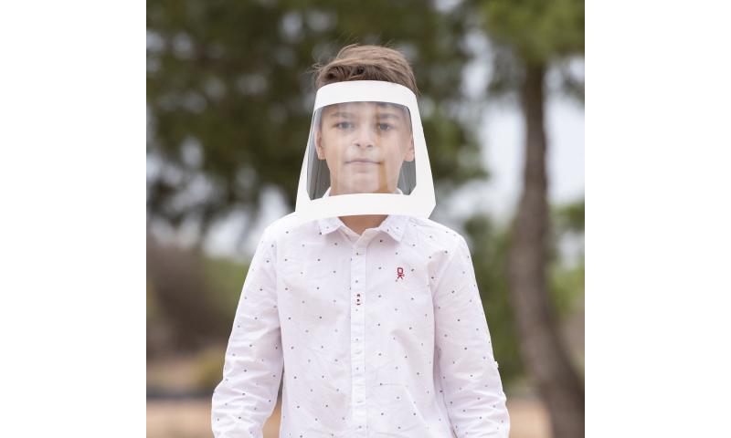 Kids Covid 19 Face Shield White Card Surround - Fun to Decorate