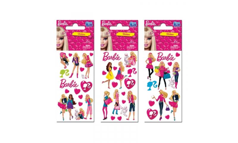 Starpak Barbie Sticker Sheet 3 Asstd