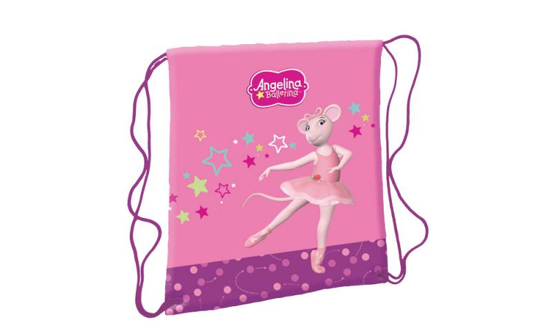 Angelina Ballerina Drawstring Shoe Bag
