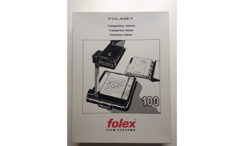Folex Folaset OHP Holders Flipframes With Side Extensions, 100pk