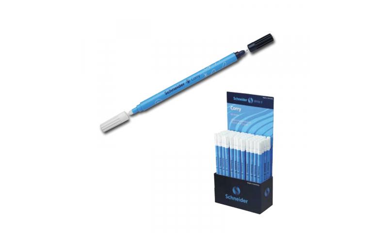 Schneider Corry Ink eraser and Blue Correction pen display
