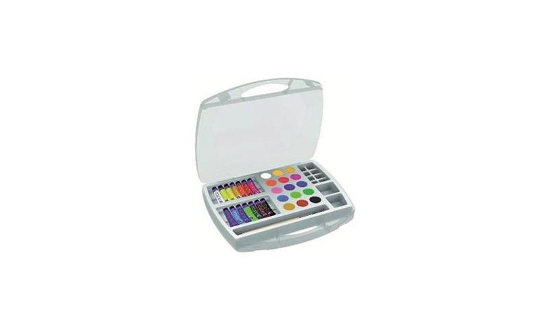 Factis Gouache & Tablet School Painting Kit in Carry Case, 32pce Set
