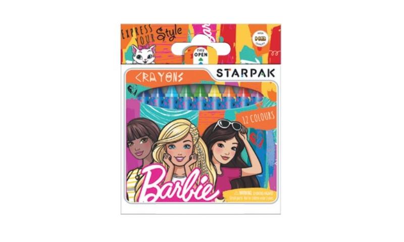 Barbie Standard Wax Crayons 12pk