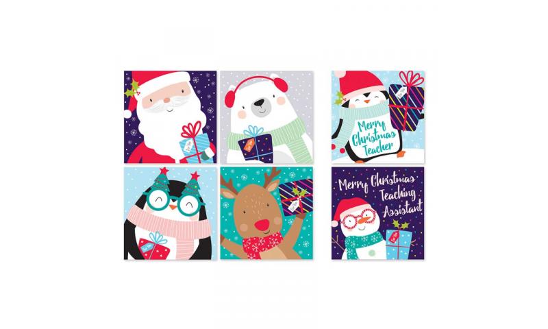 Xmas Christmas Cards, Kids Designs 6 Asstd, Bumper Box of 30.