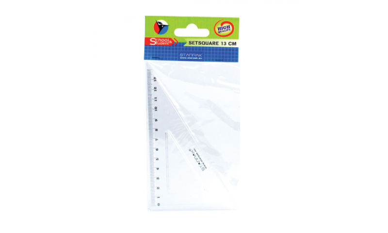 Starpak 13cm 60˚Acrylic Set Square Hang Bagged, (New Lower Price for 2021)
