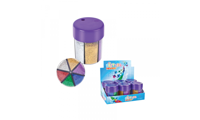 Starpak Glitter Powder 6 col's 8g Tub