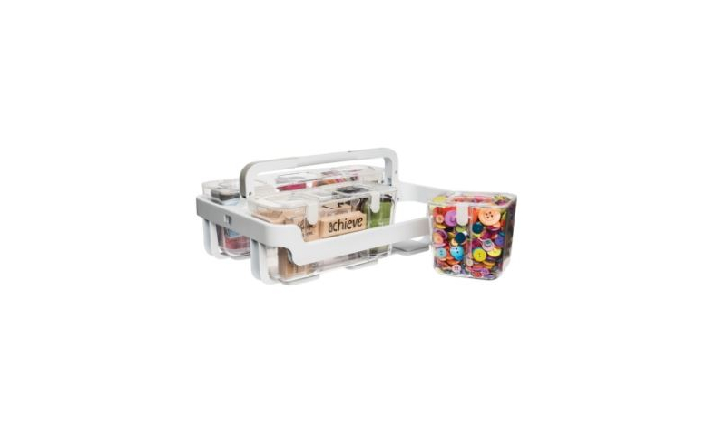 Deflecto Craft Expandable Multi Storage System, Carry Handles