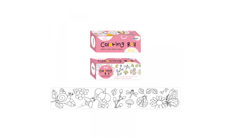 Stick'N for Kids Removeable Colouring Roll 100mm x 2430mm Long, with Pop-a- Colour Crayon, Insects