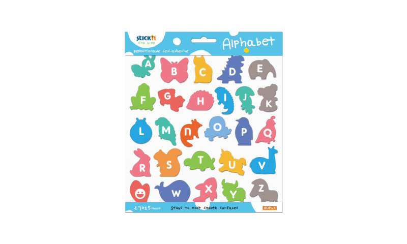 Stick'N for Kids Repositionable Colourful Alphabet, 405 in pack