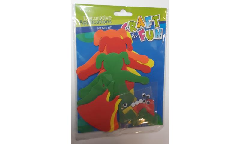 Craft with Fun EVA Kit - Creates 4 Girls (New Lower Price for 2021)