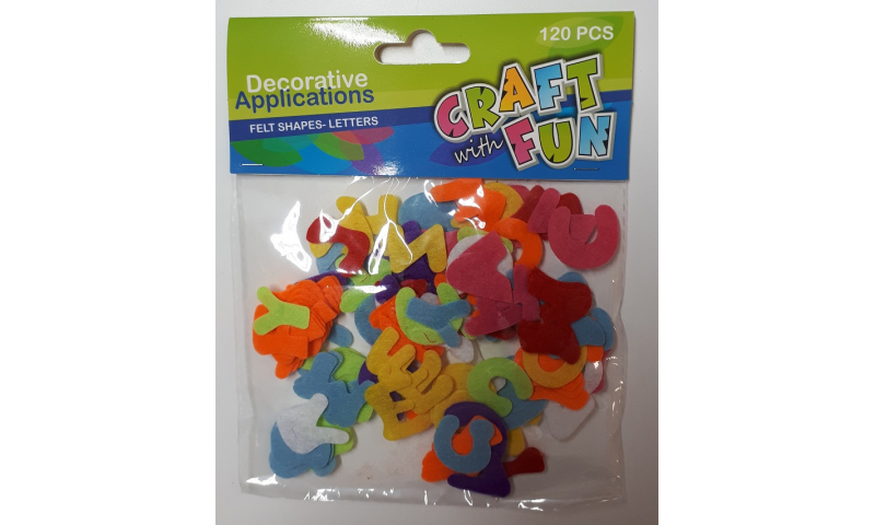 Craft with Fun Felt Numbers, Asstd Colours 120pcs (New Lower Price for 2021)