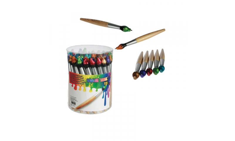 Novelty Paintbrush Ballpen, 5 Asstd