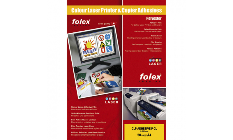 Folex White Adhesive Copier Film A4, Signs, Posters, Decals, etc. 50 Sheets