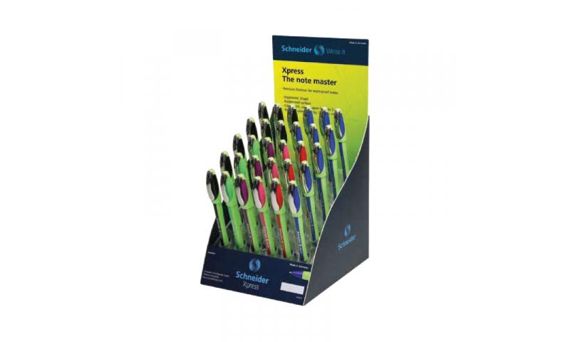 Schneider Xpress Fineliner Pens, 0.8mm - Assorted Colours Display