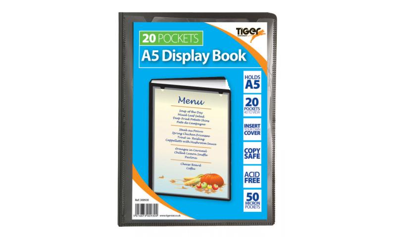 Tiger ECO A5 20 Pocket Recycled Presentation Display Book.