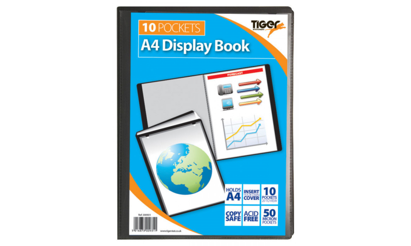 Tiger A4 10 Pocket Recycled Presentation Display Book.