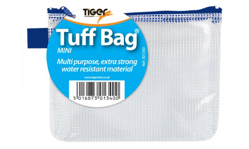 Tiger Clear Mesh Tuff Bag Mini 130x80mm Asstd