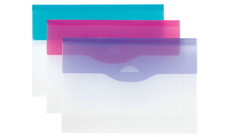 Tiger A4 Slim Clip Close Boxfiles 10mm Capacity, with 3 Asstd Coloured Flaps (New Lower Price for 2021)