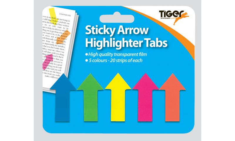 Tiger Arrow Shape Highlighter Tabs