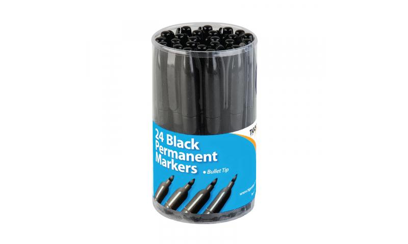 Tiger Sharpie Style Slim Permanent Markers, Black.