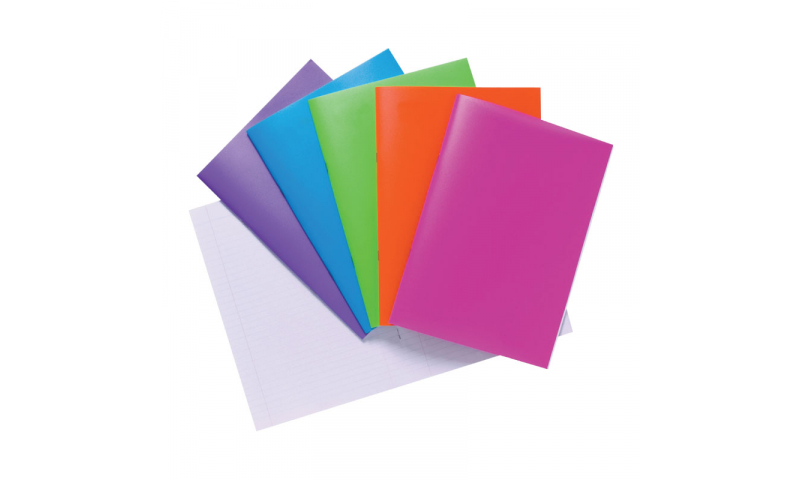 Tiger A4 Polyprop cover Bright Ruled Notebooks, 40 Sheets, 5 Asstd.