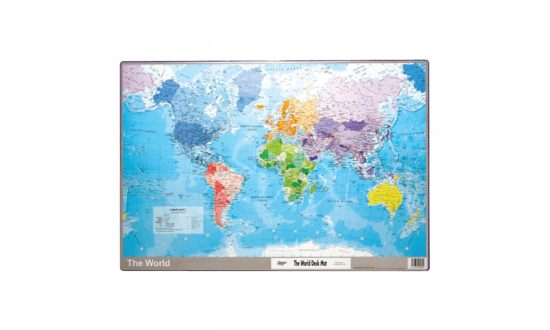 Tiger Map of World Desk Mat 590x400mm  (New Lower Price for 2021)
