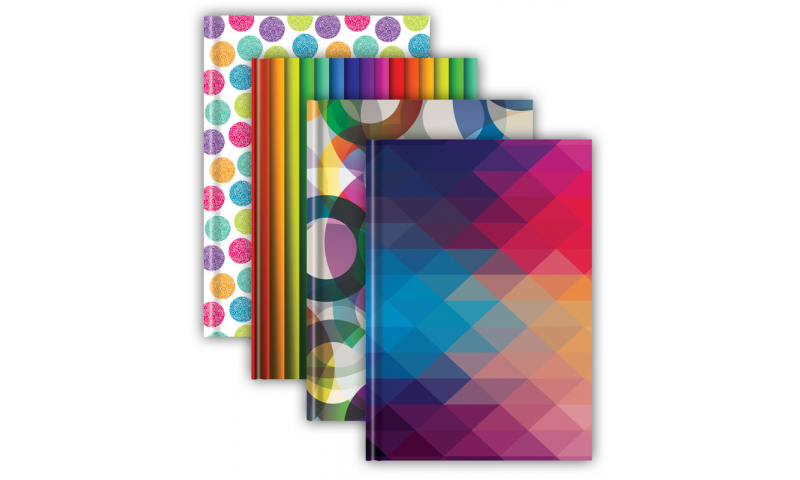 Tiger Fashion A4 Case bound Ruled Books, 72 Sheets, 70gsm Paper, 4 Asstd Designs.