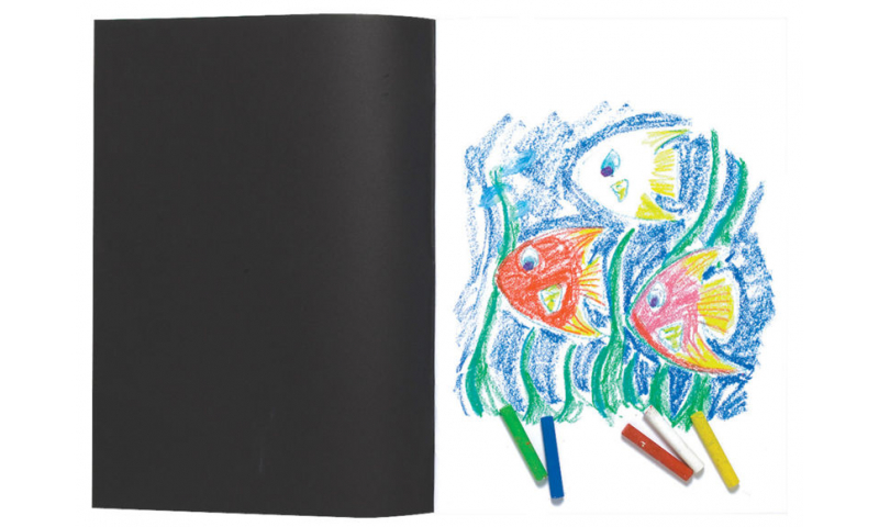 Tiger A4 Black Card Cover Sketch Book, 110g Acid Free Paper, 20 Sheet