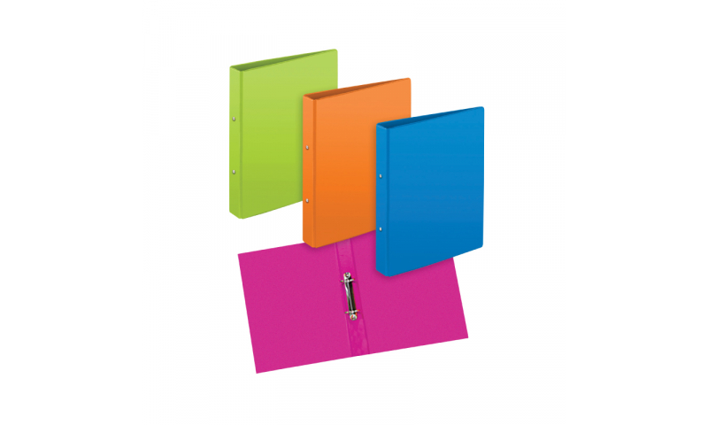 Tiger ECO A4 Primary Colours 2 Ring Binder 25mm asstd.