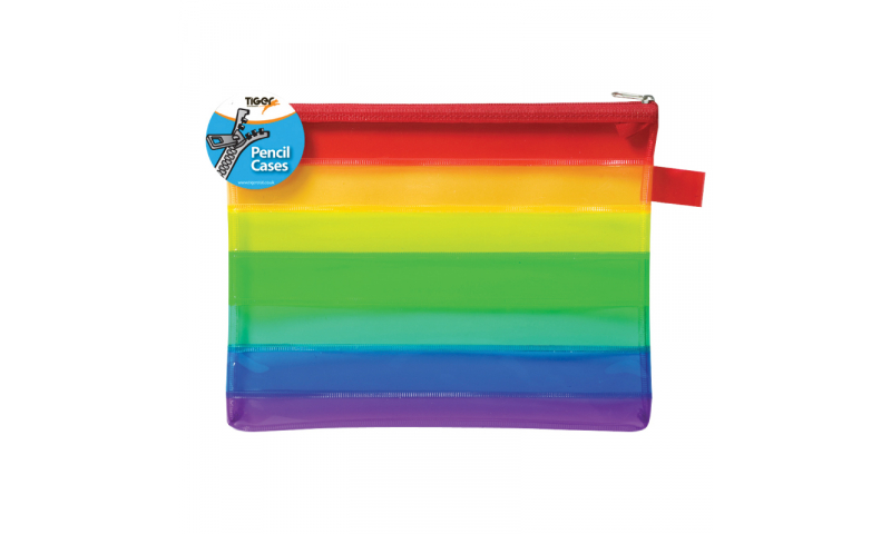 Tiger A5 Large Rainbow Pencil Case (New Lower Price for 2021)