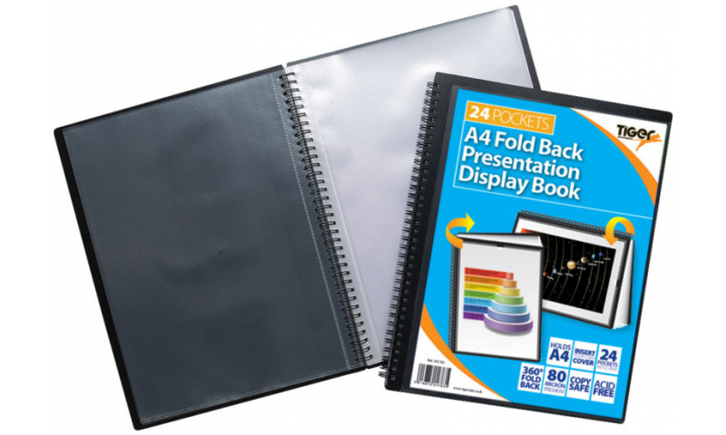 Tiger ECO A4 Fold Back Wiro Presentation Display Book, 24 Pocket.  (New Lower Price for 2021)
