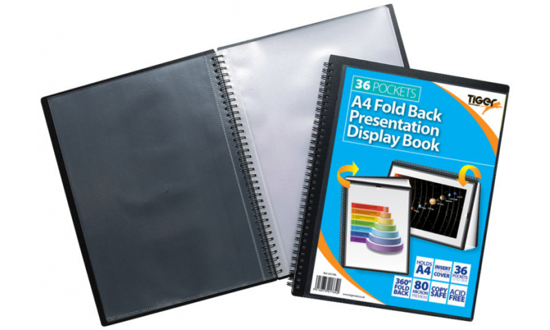 Tiger ECO A4 Fold Back Wiro Presentation Display Book, 36 Pocket.  (New Lower Price for 2021)